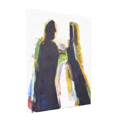 Figure Modern  Abstract  Expressionist Painting Gallery Wrapped Canvas