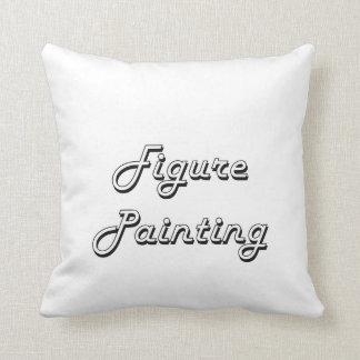 Figure Painting Classic Retro Design Cushions