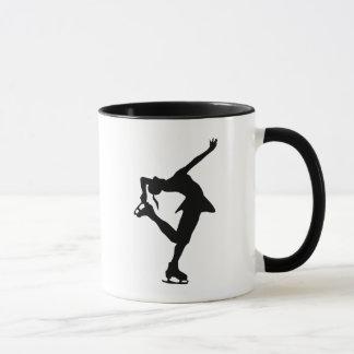 Figure Skater - Black & White Mug