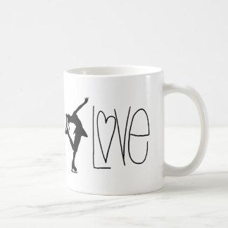 Figure Skater Love Basic White Mug