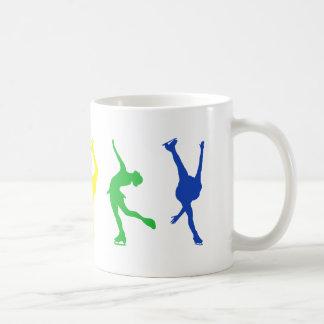 figure skaters rainbow coffee mug