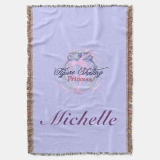 Figure Skating Princess Blanket, Personalized Throw Blanket