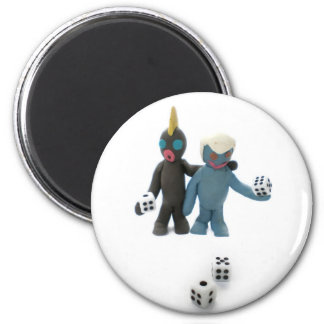 figures with dice magnets