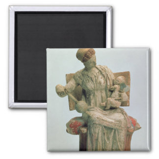Figurine of Aphrodite playing with Eros Refrigerator Magnets