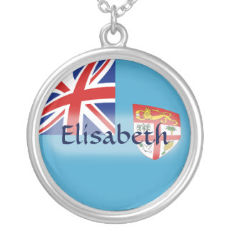 Fiji Flag + Name Necklace