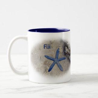 Fiji Seastar (Starfish) Two-Tone Coffee Mug