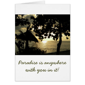 Fiji Sunset Greeting Card