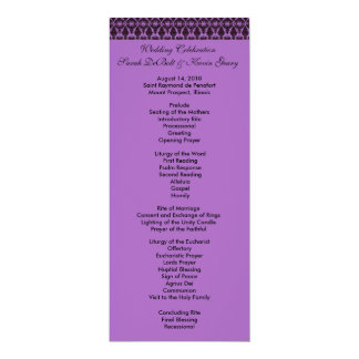 Filagree Wedding Program