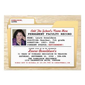 File Folder Teacher s Retirement Party Invitations