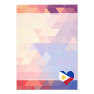 Filipino Flag Star On A Bokeh 13 Cm X 18 Cm Invitation Card