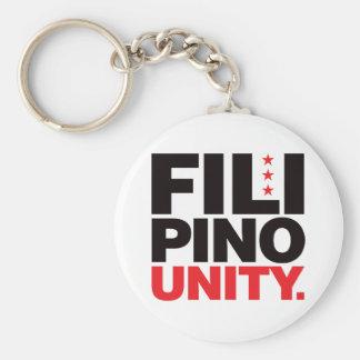 Filipino Unity - Red and Black Key Ring