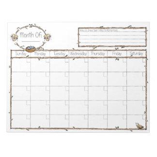 Fill in the Blank Calendar Scratch Pads
