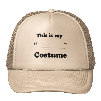 FILL IN THE BLANK COSTUME CAP