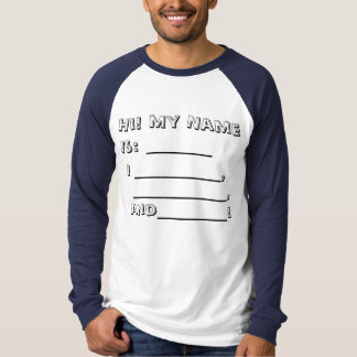 Fill in the blanks about me! tees