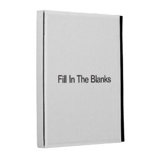 Fill In The Blanks iPad Folio Cover