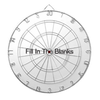 Fill In The Blanks Dartboard With Darts