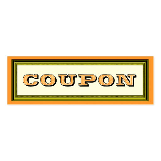 Fill in the Blanks Gift Certificate Coupon Card Business Card Templates