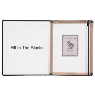 Fill In The Blanks iPad Folio Case