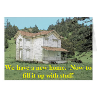 Fill It Up - Funny Change of Address Card