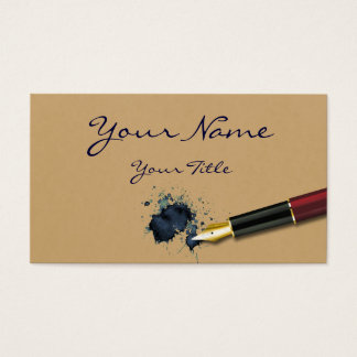 Filler Fountain Pen with Ink Blot - Business Card