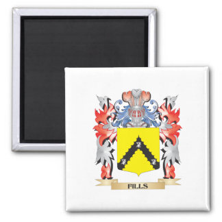 Fills Coat of Arms - Family Crest Square Magnet