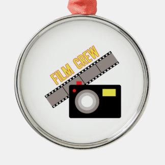 Film Crew Silver-Colored Round Decoration