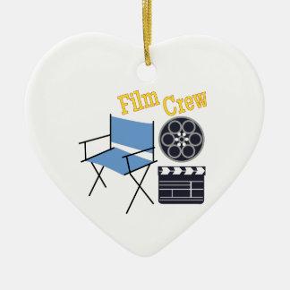 Film Crew Ceramic Heart Decoration