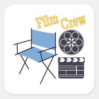 Film Crew Square Sticker