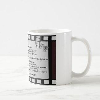film motto movie reel script actor crew basic white mug