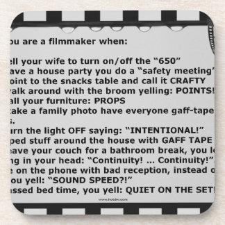 film motto movie reel script actor crew beverage coasters