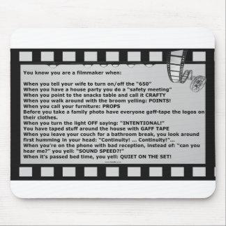 film motto movie reel script actor crew mouse pad