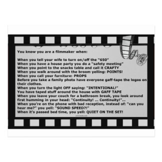 film motto movie reel script actor crew postcard