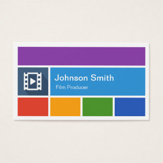 264 for filmmakers business cards and for filmmakers business card film producer creative modern metro style business card colourmoves Image collections