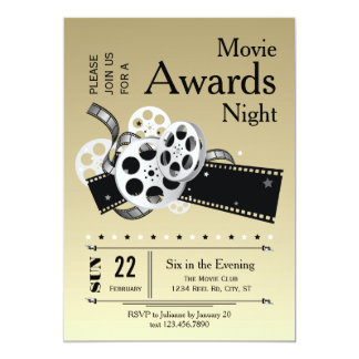 Film Reel Movie Awards Party Invitation