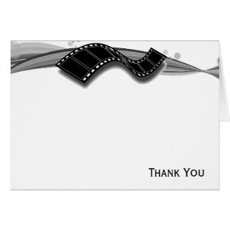 Film Strip on Black and White Ribbon Card