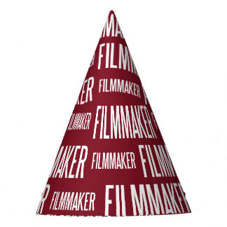 Filmmaker paper party hat (red)