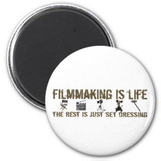 Filmmaking is Life 6 Cm Round Magnet