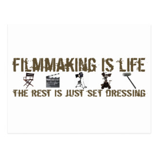 Filmmaking is Life Post Card