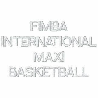 FIMBAINTERNATIONALMAXIBASKETBALL EMBROIDERED SHIRT