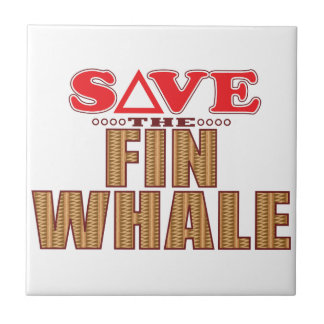Fin Whale Save Small Square Tile