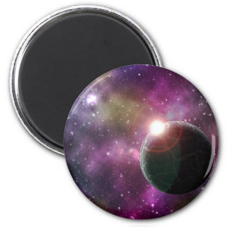 FINAL FRONTIERS - NEW WORLDS (outer space) ~.jpg 6 Cm Round Magnet