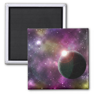 FINAL FRONTIERS - NEW WORLDS (outer space) ~.jpg 2 Inch Square Magnet