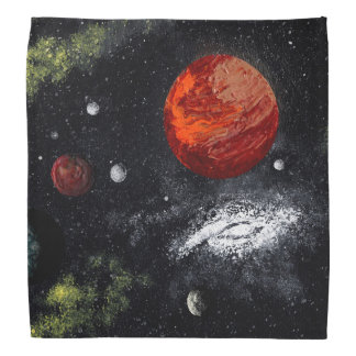 FINAL FRONTIERS (outer space design 10) ~ Head Kerchief