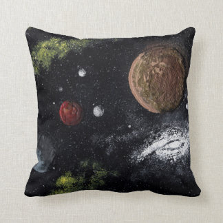Final Frontiers (space design 2) ~ Throw Pillow