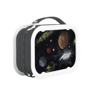 Final Frontiers space design 2 Lunch Boxes