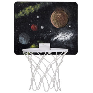 Final Frontiers space design 2 Mini Basketball Backboard