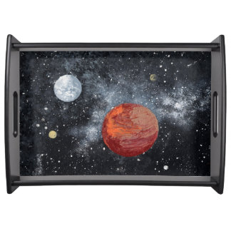 FINAL FRONTIERS space design 3 Serving Tray