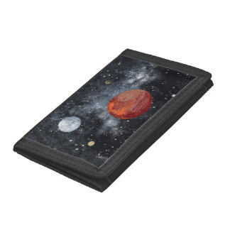 FINAL FRONTIERS space design 3 Tri-fold Wallets
