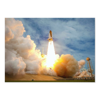 Final Mission Launch of the Space Shuttle 13 Cm X 18 Cm Invitation Card