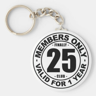 Finally 25 club key ring